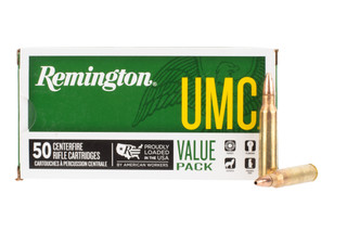 Remington UMC 223 ammo is loaded with a jacketed hollow point