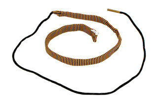 Hoppe's BoreSnake Den .30 - .32 Caliber Pistol bore cleaner features dual brass brushes and a caliber marked carrier.