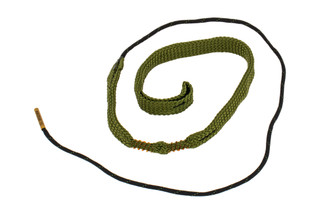 Hoppe's BoreSnake Den .357 / 9mm Caliber Pistol bore cleaner features dual brass brushes and a caliber marked carrier.
