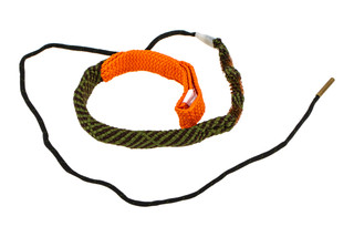 Hoppe's BoreSnake Viper Den .44 - .45 Caliber Pistol bore cleaner features triple brass brushes and a caliber marked carrier.