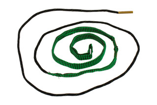 Hoppe's BoreSnake Den M16 5.56 Caliber Pistol bore cleaner features dual brass brushes and a caliber marked carrier.
