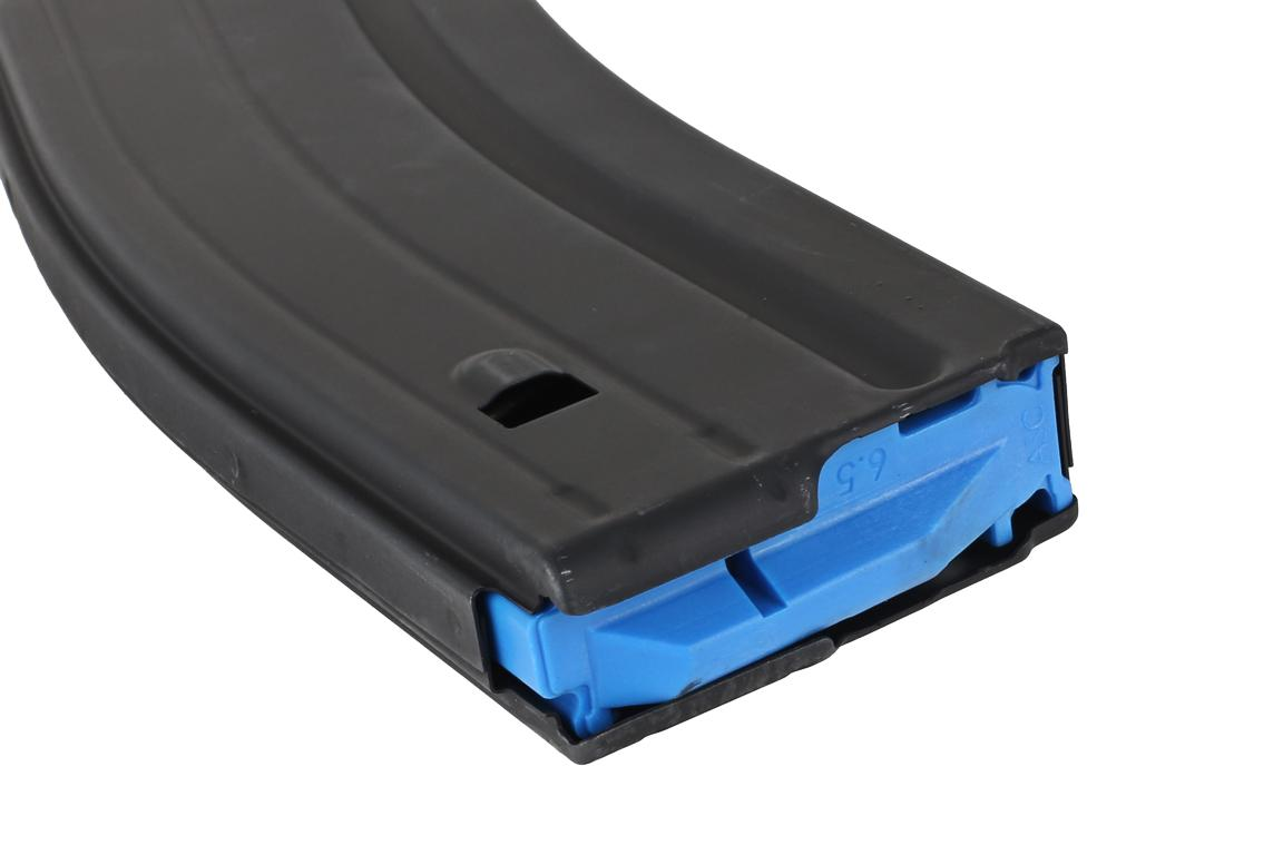 Ammunition Storage Components 25-Round Stainless Steel Magazine 6.5 Grendel Black with Blue Follower