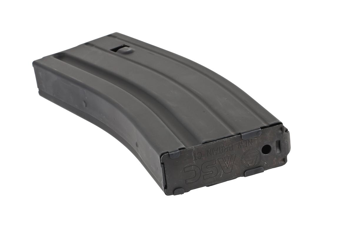 The 6.8 SPC magazine with 25 round capacity features a removable base plate for cleaning