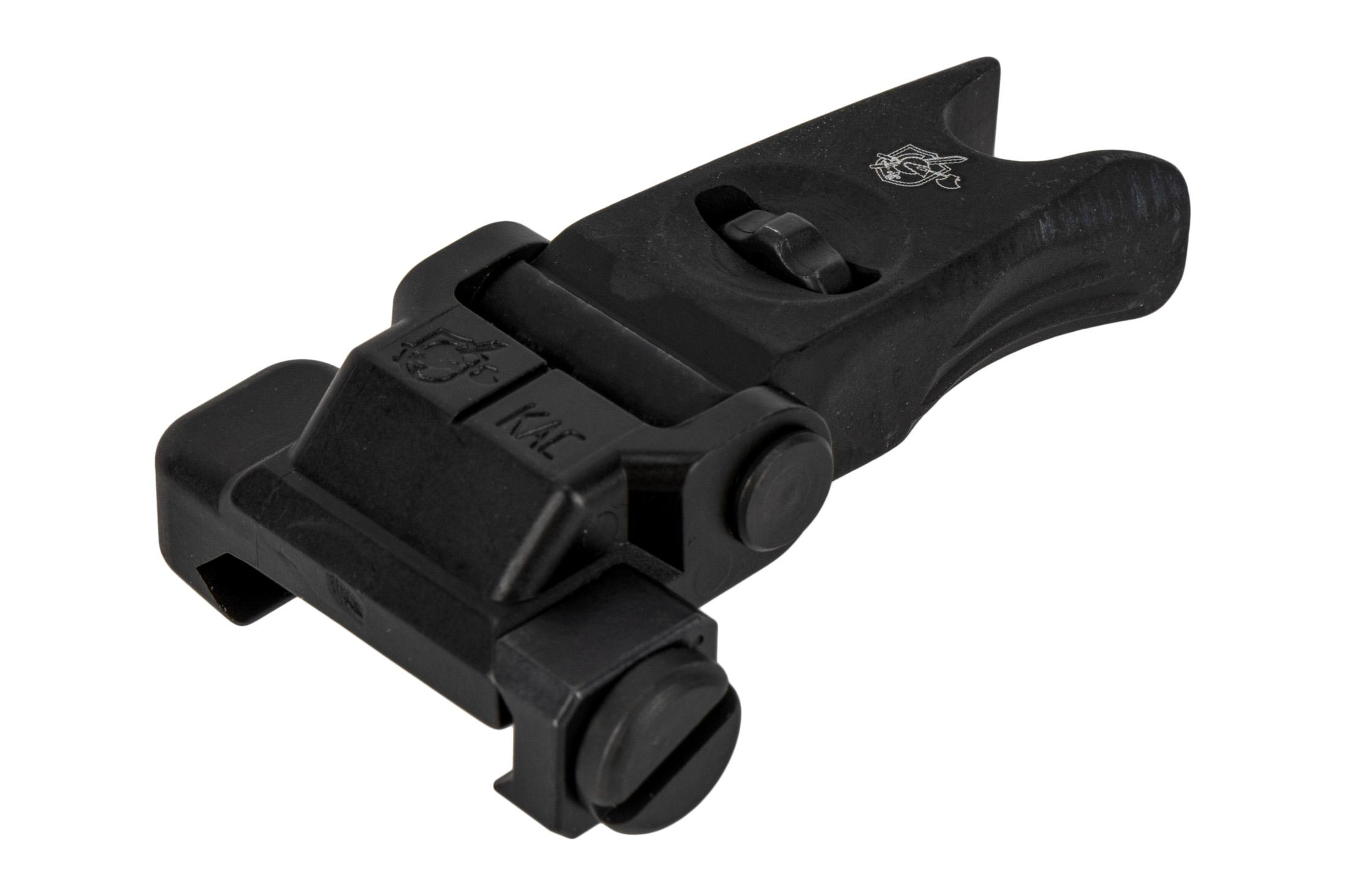 Knights Armament Company folding front sight features a low profile design