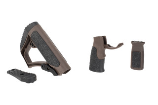Daniel Defense AR15 Furniture Set features a KeyMod compatible vertical grip and Mil-Spec+ brown color