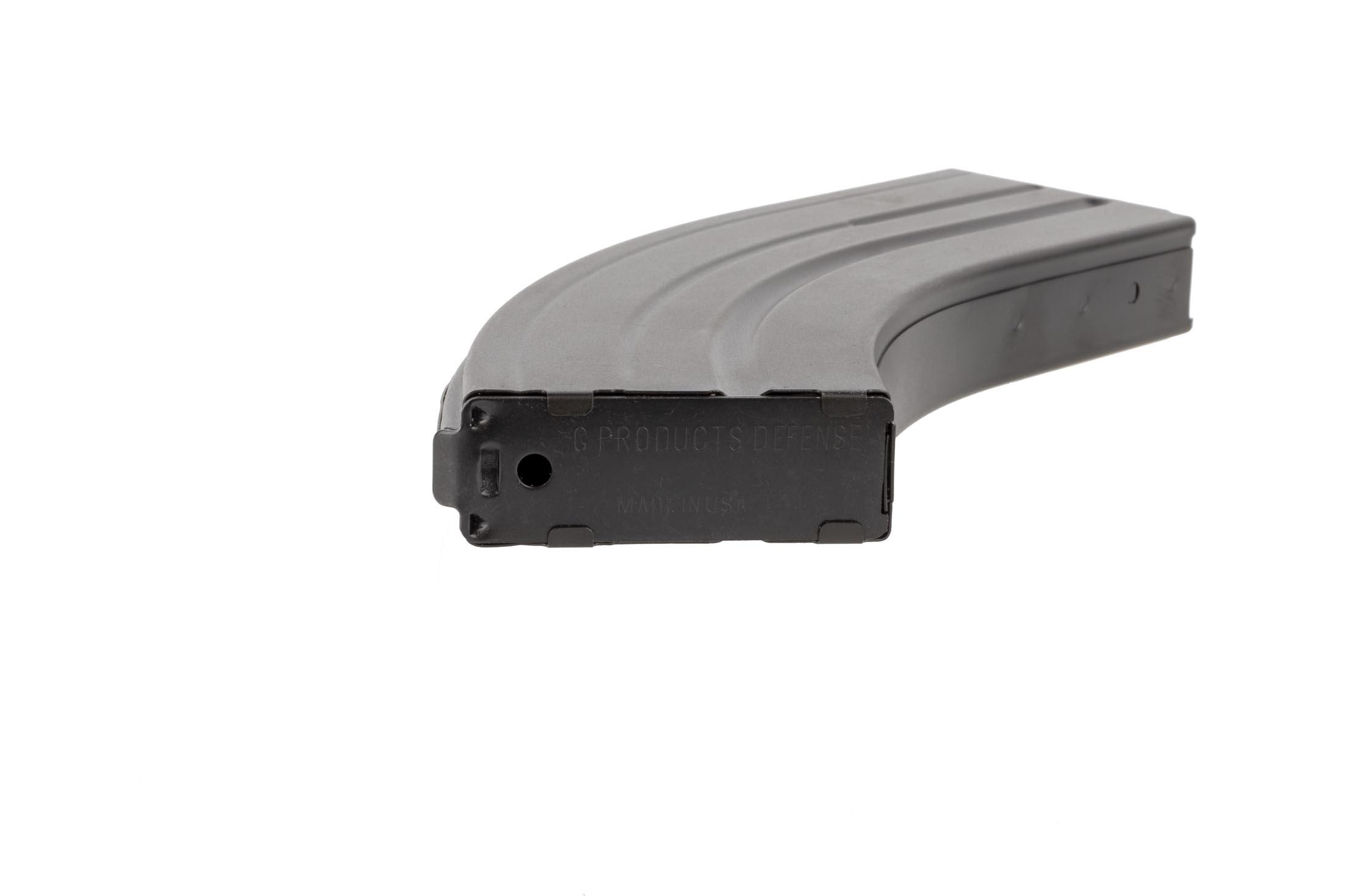 C Products Defense 28-round stainless steel magazine for 6.8 SPC AR15s is stamped and marked for clairty