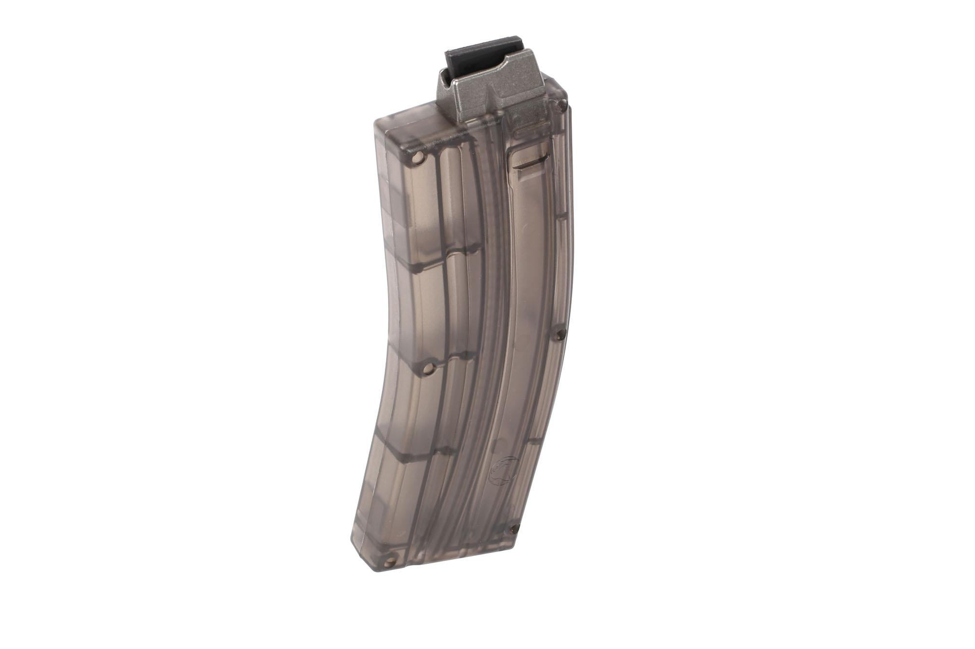 2A Armament AR15 .22LR 25-Round Magazine - Steel Feed Lip - Translucent Smoke