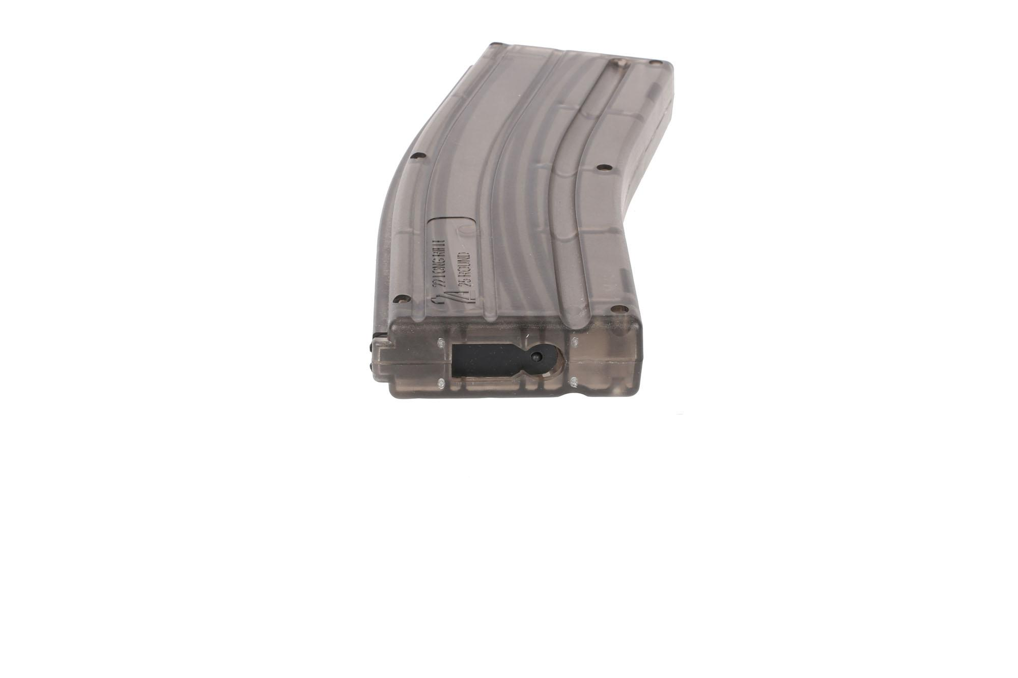 2A Armament AR 22LR 25-Round Magazine - Steel Feed Lip - Translucent Smoke