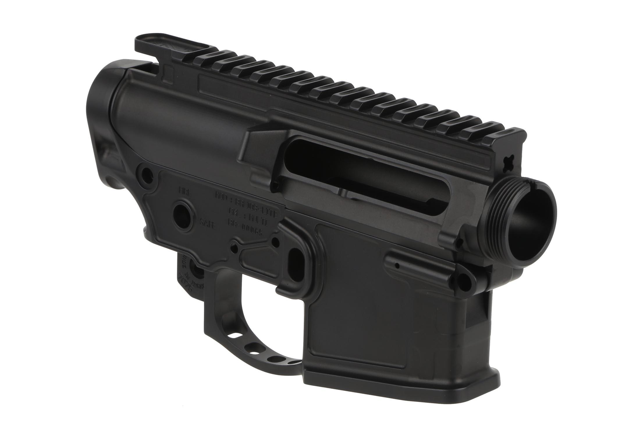 The 2A Armament Balios Lite receiver set features multiple lightening cuts to decrease weight