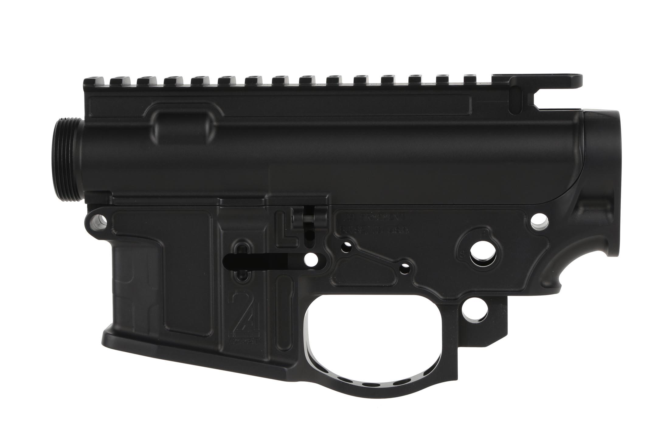 The 2A Armament Balios Lite Gen 2 receiver set has an integrated trigger guard and flared magazine well