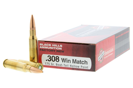 Black Hills Ammunition  308 Winchester 175 gr Sierra MatchKing BTHP - Box  of 20