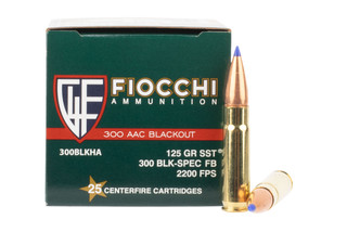 Fiocchi Extrema 300 AAC Blackout Ammunition is loaded with the SST Super Shock Tip bullet