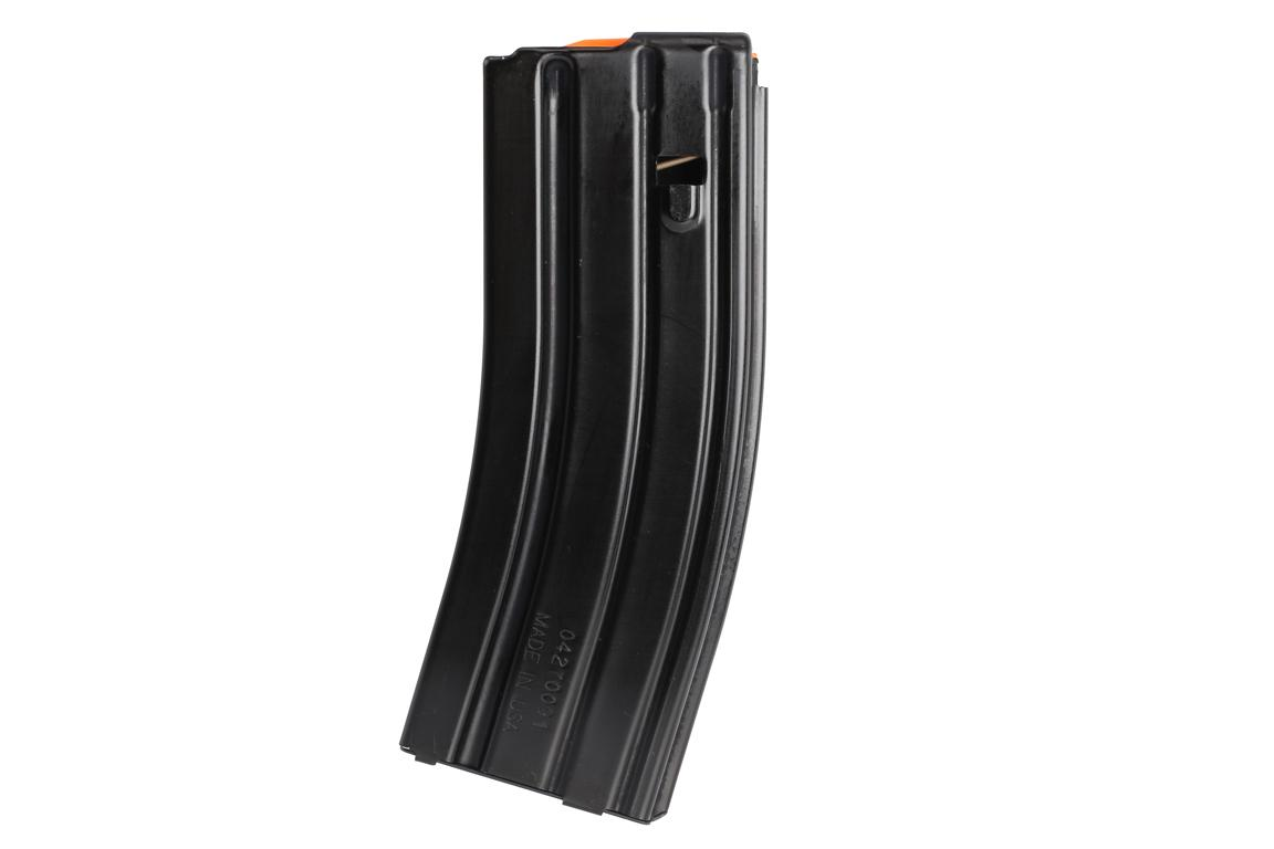 The C Products AR15 magazine 30 round aluminum features a black Teflon finish
