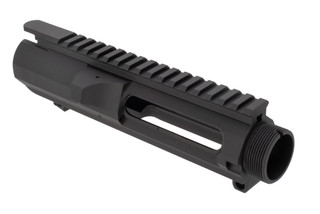 Luth-AR stripped AR-308 receiver is a DPMS pattern A3-style flat top upper without forward assist.