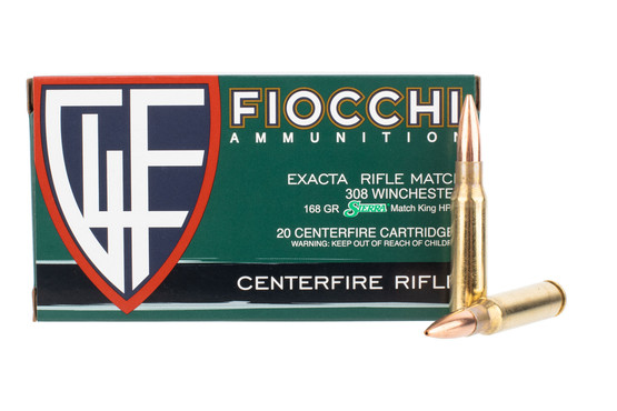 Fiocchi 308 winchester sierra matchking boat tail hollow point ammo comes in a box of 20