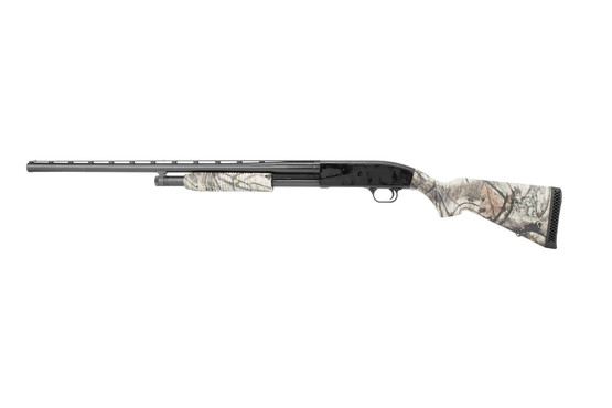 Mossberg Maverick 88 12 gauge hunting shotgun features a vent rib barrel and 5 round capacity
