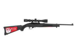 Ruger 1022 22lr rifle comes with a viridian riflescope