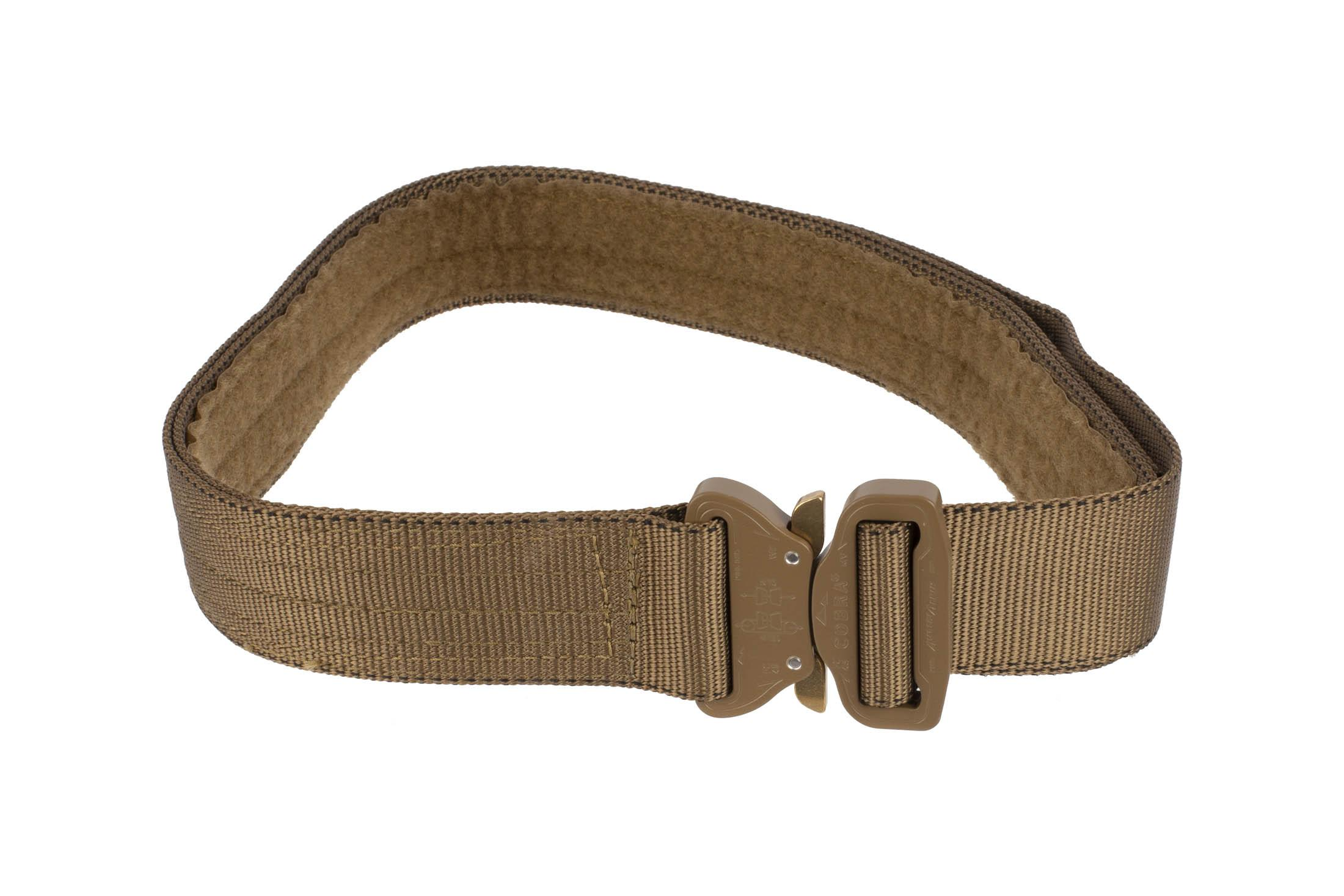 High Speed Gear 1.75in Rigger Belt coyote brown is equipped with a small Cobra Buckle.