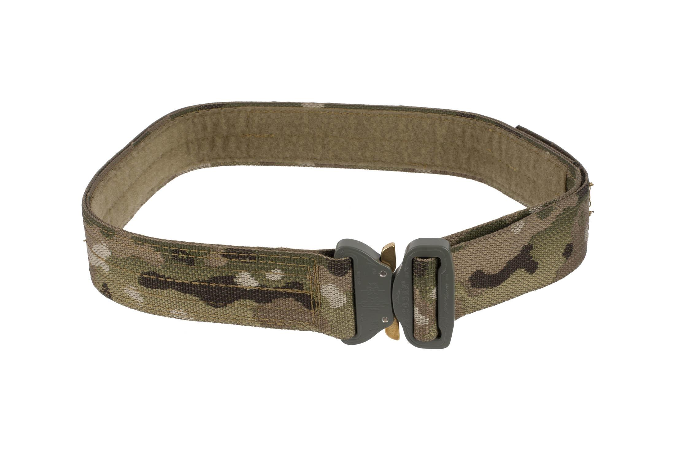 High Speed Gear 1.75in Rigger Belt MultiCam is equipped with a small Cobra Buckle.