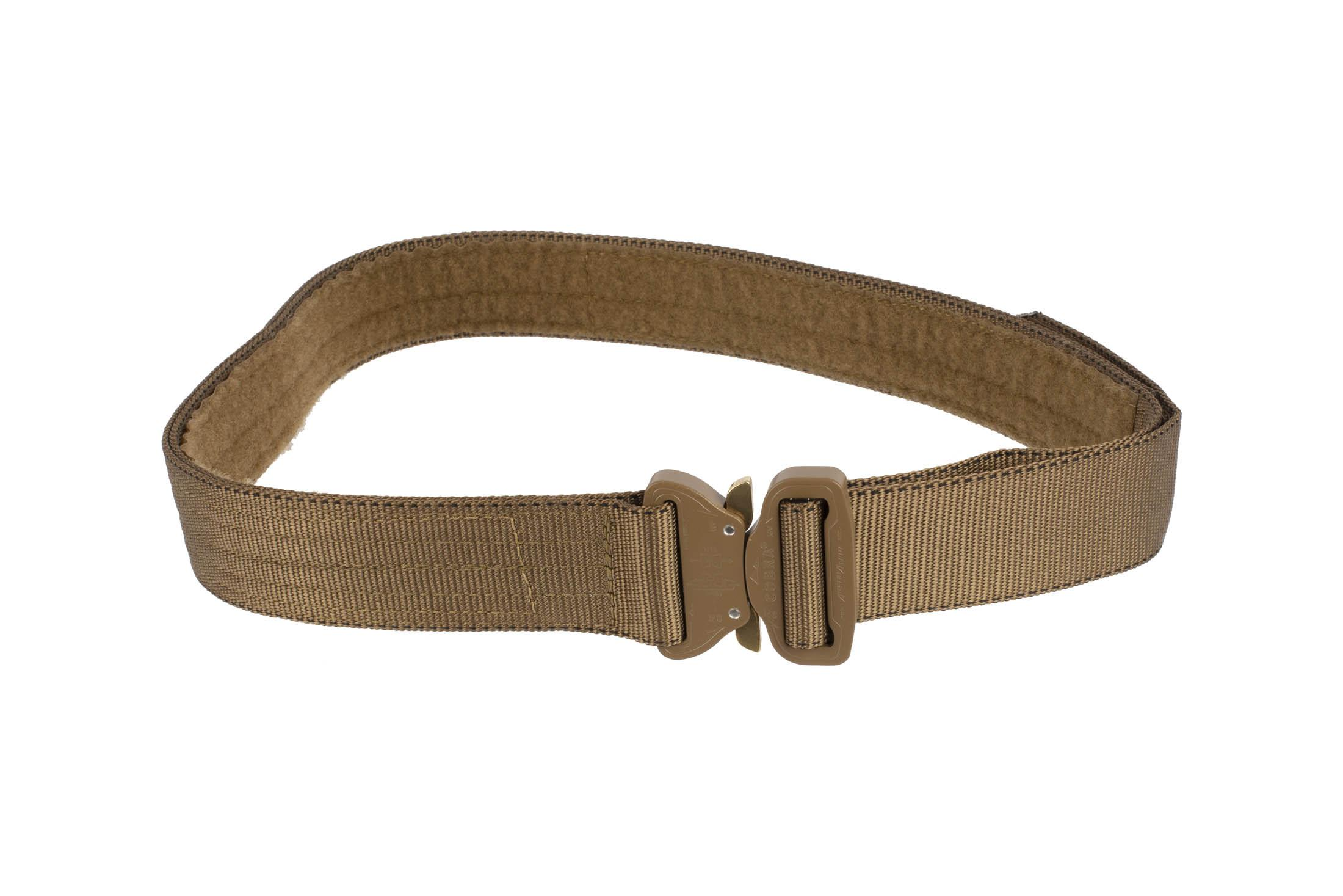 High Speed Gear 1.75in Rigger Belt coyote brown is equipped with a medium Cobra Buckle.