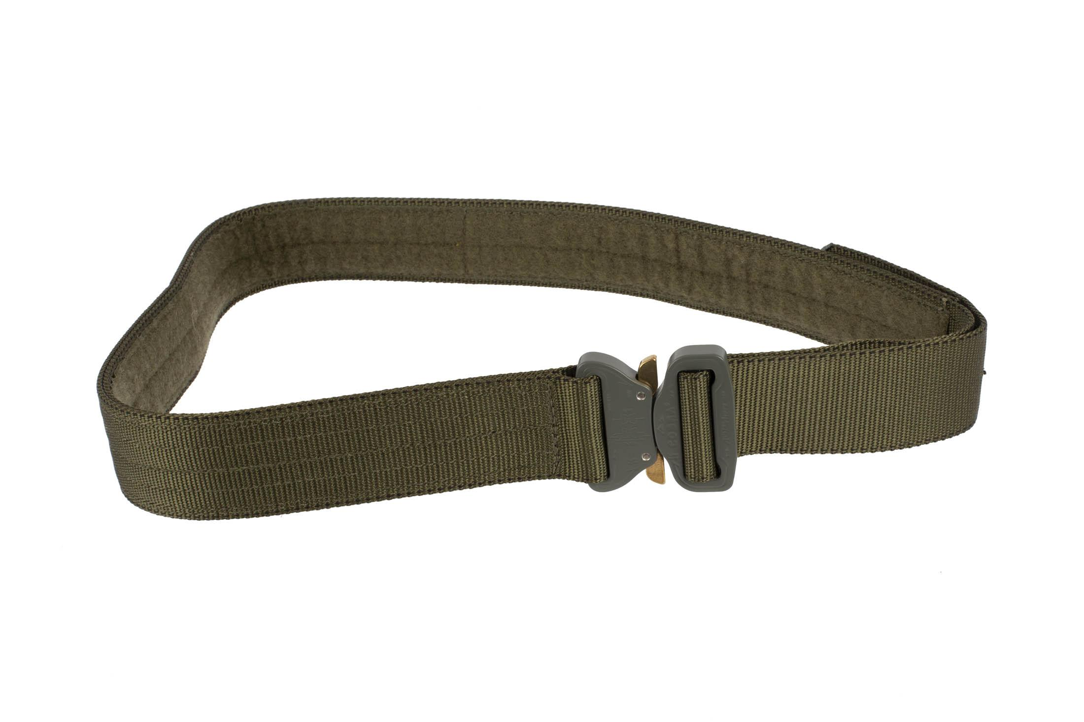 High Speed Gear 1.75in Rigger Belt olive drab green is equipped with a large Cobra Buckle.