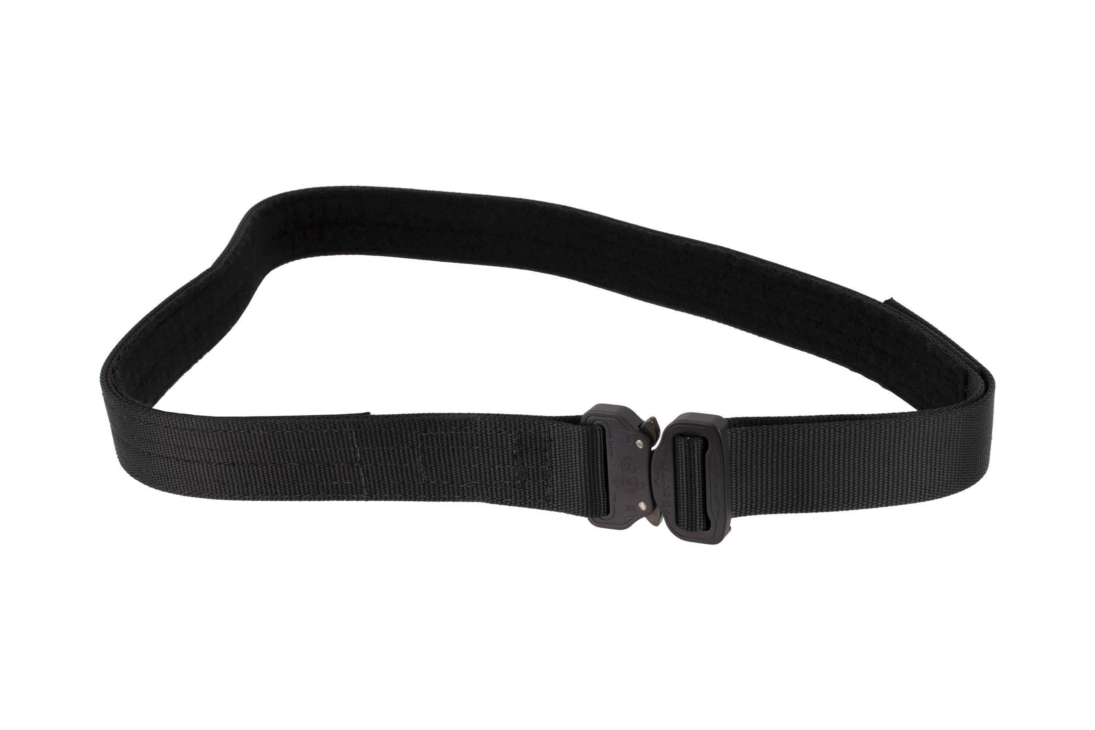 High Speed Gear 1.5in extra large black Rigger Belt coyote is equipped with a cobra buckle