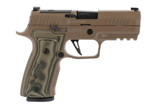 SIG Sauer P320 AXG Scorpion 9mm Pistol has a Cerakote FDE frame finish
