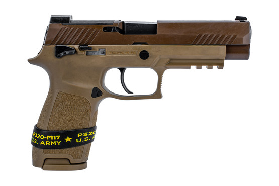 SIG Sauer P320 M17 edition with manual safety and coyote brown finish includes 1 magazine