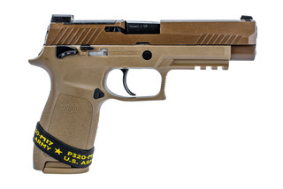 SIG Sauer P320 M17 edition with manual safety and coyote brown finish includes 2 magazine