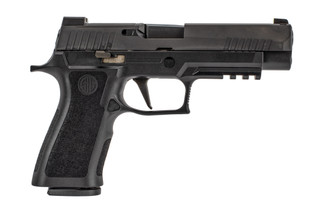 SIG Sauer P320 Xfull 9mm pistol features Xray night sights and a slide plate for the ROMEO1 red dot