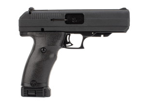 Hi-Point JHP .45 ACP Pistol features a polymer frame with easy-grip finish