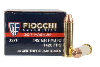 Fiocchi 357 Magnum full metal jacket truncated cone ammo in box of 50