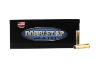 Doubletap Ammunition controlled expansion .357 Magnum 158gr jacketed hollow point ammo in 20-round boxes.