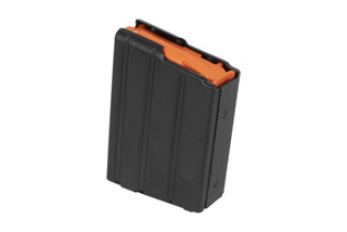 The CMMG .350 Legend magazine holds 10 rounds of ammo