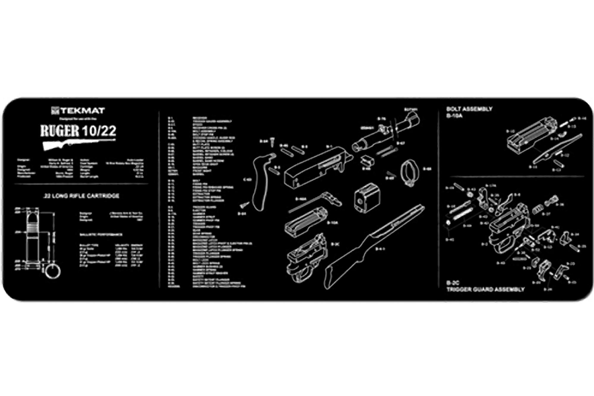 Tekmat Ruger 10 22 Cleaning Mat
