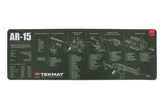 TekMat AR-15 Cleaning Mat Olive Drab Green