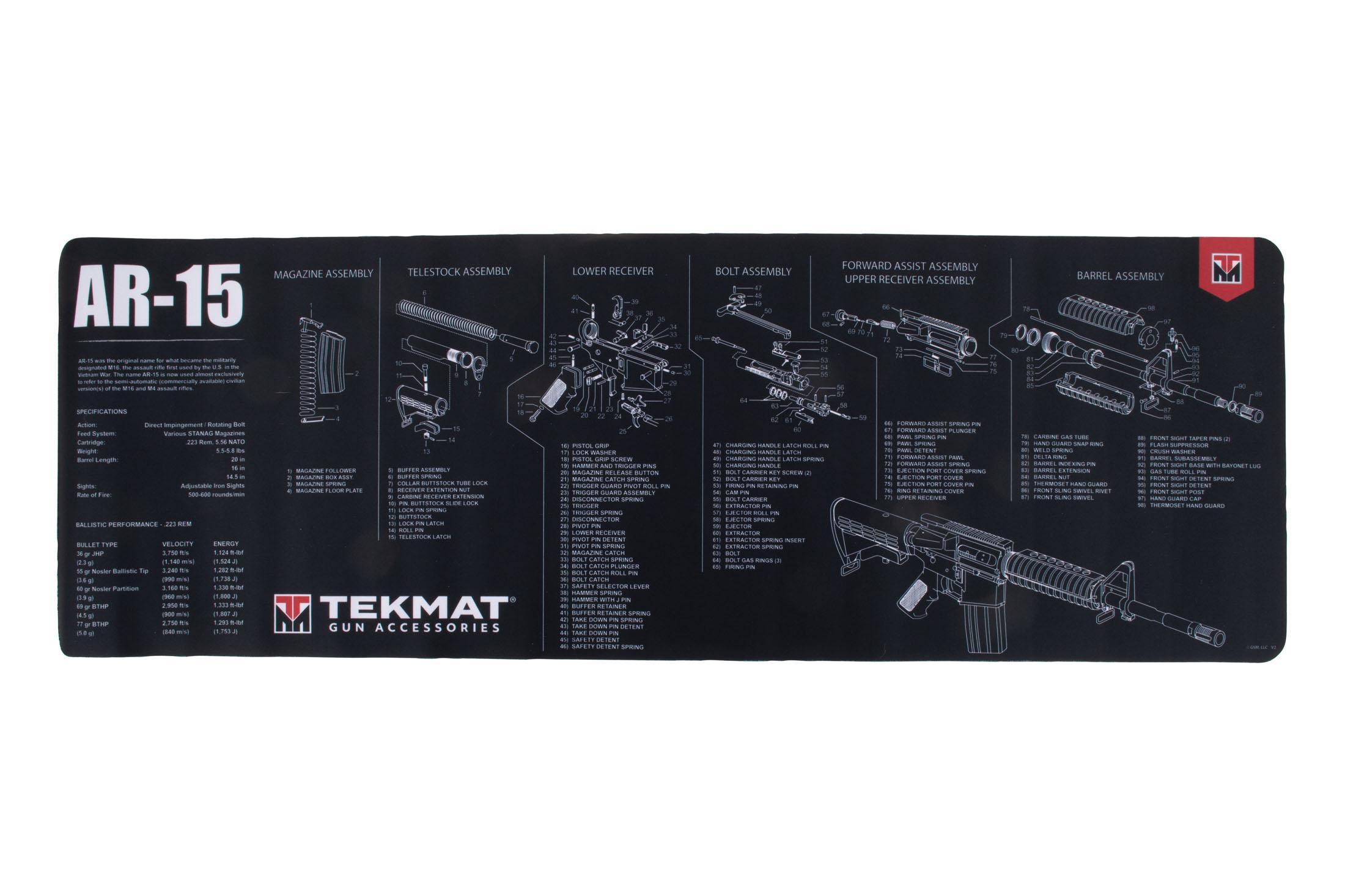 tekmat ar 15 gun cleaning mat black 36 ar15