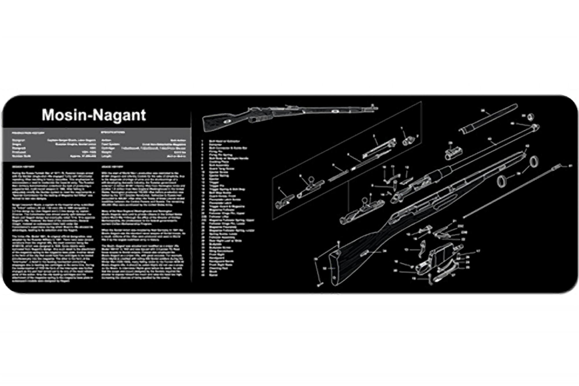 Tekmat Mosin Nagant Gun Cleaning Mat 36 Parts Diagram