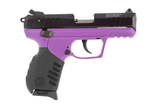 Ruger SR22 22lr pistol features a purple frame