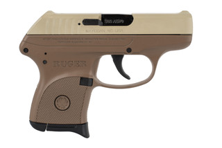 Ruger LCP 380 Sub Compact Pistol features a flat dark earth slide and frame