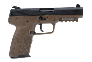 FN Five Seven Pistol FDE holds 20 rounds of 5.7x28mm ammo