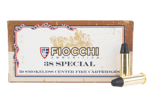 Fiocchi 38 special flat nose ammo comes in a box of 50 rounds