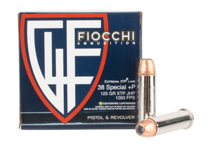 Fiocchi Extrema 38 Special +P features the XTP hollow point bullet