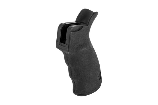 Ergo AR 15 pistol grip is optimized for right handed shooters with an ergonomic design and grippy overmold.