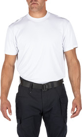 5.11 Tactical Performance Utili-T Short Sleeve Shirt in white with enduro-flex fabric