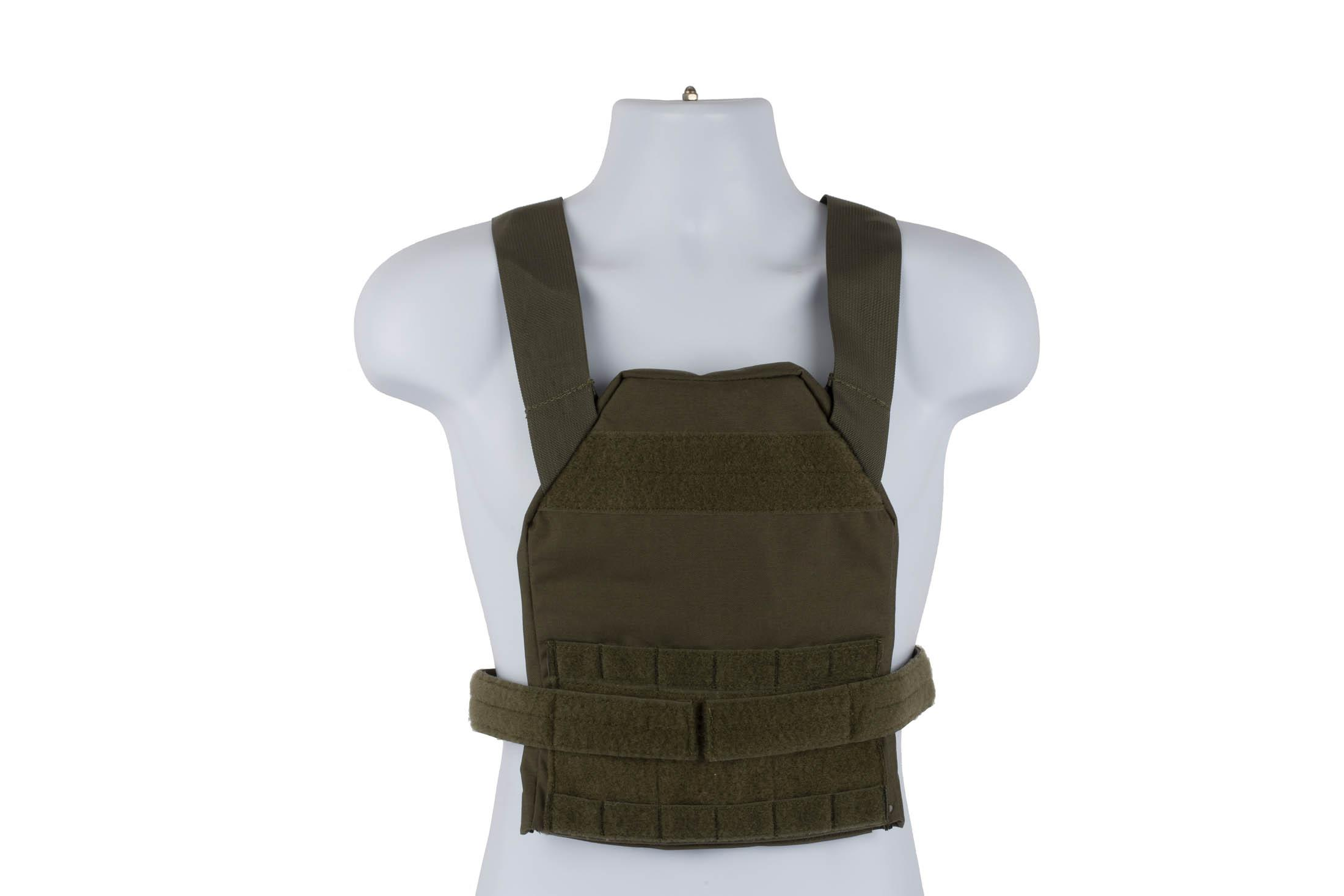 High Speed Gear Slick Plate Carrier is an accessory ready, modern, and lightweight option for medium plates in olive drab.