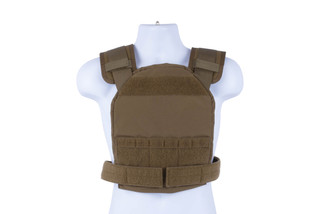 High Speed Gear Slick Plate Carrier is an accessory ready, modern, and lightweight option for large plates in coyote brown.