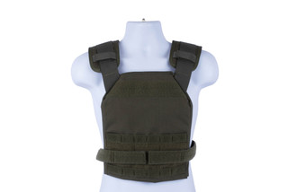High Speed Gear Slick Plate Carrier is an accessory ready, modern, and lightweight option for large plates in Olive Drab.
