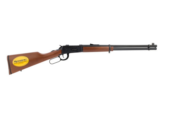 464 30-30 Win Lever-Action Rifle from Mossberg has a hardwood straight stock