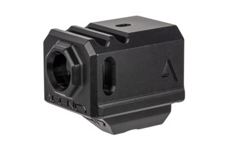 The Agency Arms 417 Glock Compensator black is designed to work with OEM recoil springs
